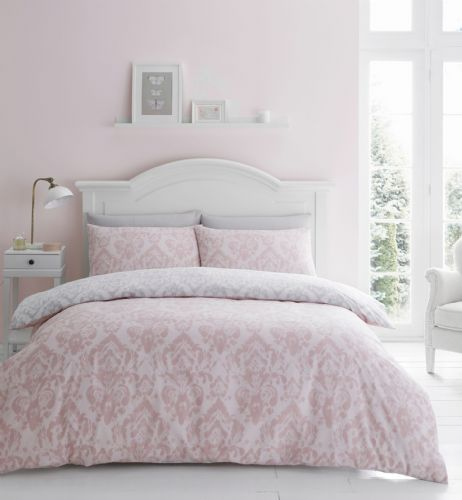 Catherine Lansfield Damask Blush Bedding Set
